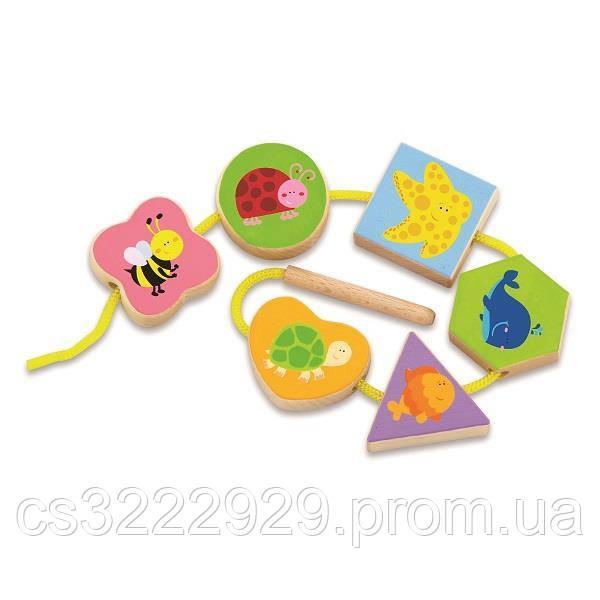 """Шнурівка """"У світі тварин"""" Viga Toys (50156VG)"""