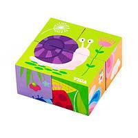 """Пазл-кубики Viga Toys """"Насекомые"""" (50160), фото 1"""