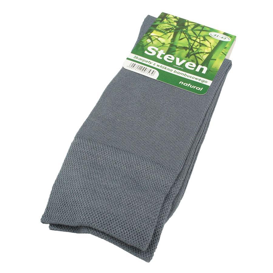 Мужские бамбуковые носки Steven 069 в сером цвете
