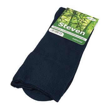 Мужские бамбуковые носки Steven 069 в темно-синем цвете