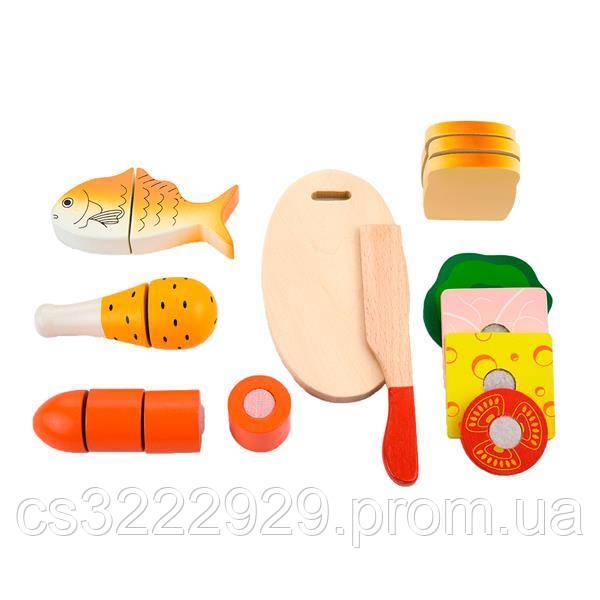 """Ігрові продукти на липучках Viga Toys """"Ланч"""" (50260)"""