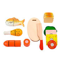 """Ігрові продукти на липучках Viga Toys """"Ланч"""" (50260), фото 1"""