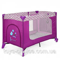 Манеж El Camino Safe ME 1016 Purple Flowers, размер 123х64х77 см PS
