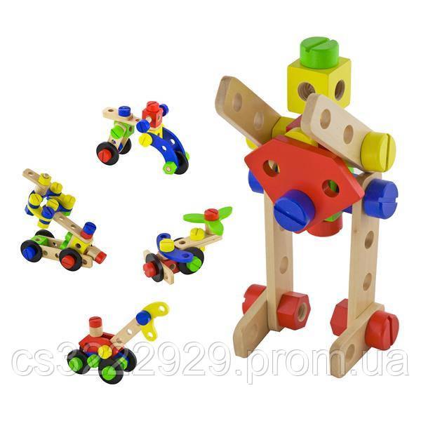 Деревянный конструктор Viga Toys 48 деталей (50383)