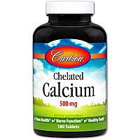 Кальций хелат Carlson Labs 180 таблеток 10220, КОД: 1535686
