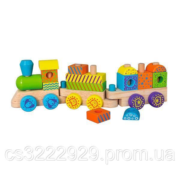Ігровий набір Viga Toys Дерев'яний поїзд (50572)