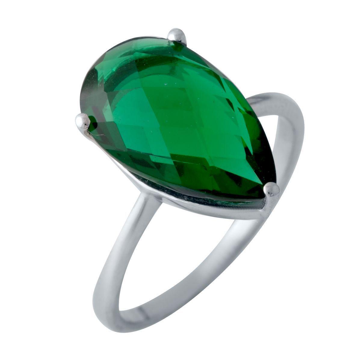 Серебряное кольцо DreamJewelry с изумрудом nano 3.75ct (2018100) 17 размер