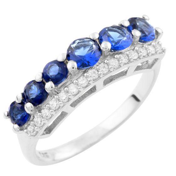 Серебряное кольцо DreamJewelry с сапфиром nano (1633861) 17 размер