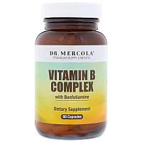 Витамины группы В с бенфотиамином, Dr. Mercola, Vitamin B Complex, 60 капсул 29859, КОД: 1535865