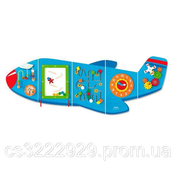 Игровой центр бизиборд Viga Toys Самолетик (50673)