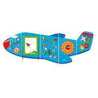 Игровой центр бизиборд Viga Toys Самолетик (50673), фото 1