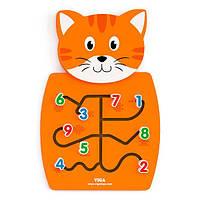 Настенная игрушка Viga Toys Котик с цифрами (50676)