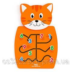 Настенный бизиборд Viga Toys Котик с цифрами (50676)