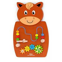 Бизиборд Лошадка с лабиринтом Viga Toys (50678)