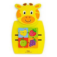 Настенный бизиборд Viga Toys Жираф с фруктами (50680)