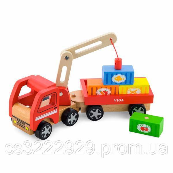 """Игрушка """"Автокран"""" Viga Toys (50690)"""