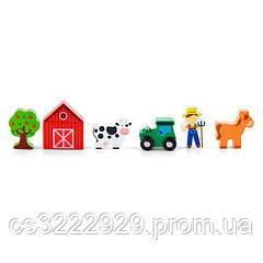 """Дерев'яні фігурки до ж/д Viga Toys """"Ферма"""" (50812)"""