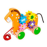 "Игрушка-каталка Viga Toys ""Лошадка"" (50976), фото 1"
