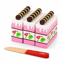 """Игрушные продукты """"Клубничный торт"""" Viga Toys (51324), фото 1"""