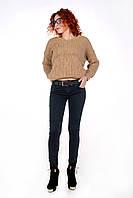 Теплые женские джинсы AROX Skinny M L Темно-серый Т6560-01-30, КОД: 1465036