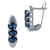 Серебряные серьги DreamJewelry с сапфиром nano (2000990), фото 1
