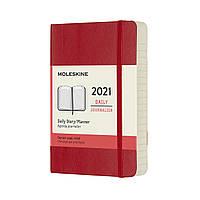 Ежедневник Moleskine 2021 Датированный Карманный (9х14 см) 400 страниц Красный Мягкий (8053853606365), фото 1