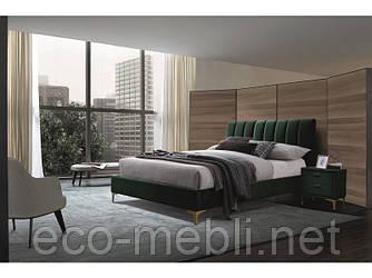 Двоспальне ліжко з мякою оббивкою Mirage  Signal