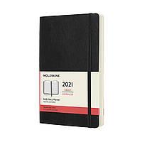 Ежедневник Moleskine 2021 Датированный Средний (13х21 см) 400 страниц Черный Мягкий (8053853606358), фото 1