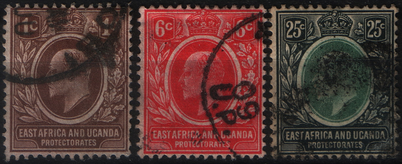 East Africa and Uganda Protectorates 1907-1908 год