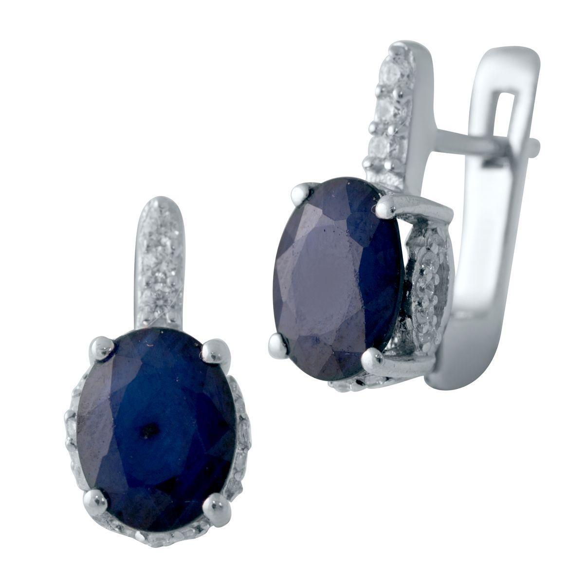 Серебряные серьги DreamJewelry с натуральным сапфиром 4.624ct (2006343)