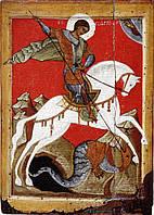 Великомученник Георгий Победоносец на коне. Икона