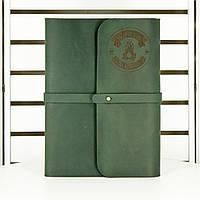 Кожаный блокнот M(А5). Софт-бук в мягком кожаном переплёте с индивидуальной гравировкой