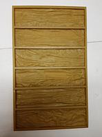Форма полиуретановая Древесный скол силиконовая для бетона и гипса фасадной плитки форма камня