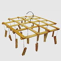 Вертушка бамбуковая с прищепками для презентации и торговли