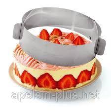 Кондитерское кольцо для выпечки и сборки тортов и салатов  8,0 см от 16 см до 30 см ОПТ