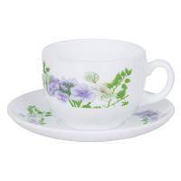 Сервиз чайный белый с цветами Luminarc Essence Mabelle 12 предметов 220 мл (P6888)