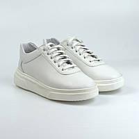 Белые женские кроссовки кожаные кеды обувь на платформе Rosso Avangard Mozza White Star Leather