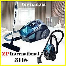 Пылесос колбовый  ZP International 3118.Бытовой пылесос для дома,для сухой уборки,без мешка ,3000W