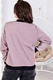 Женская тонкая курткабольшого размера 48, 50, 52, 54, плащевка, бомбер, ветровка, цвет фрез, фото 2