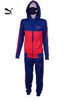 Спортивный костюм подростковыйPUMA .Детский спортивный костюм.Реплика PUMA синий .146-164.Костюм для подростка