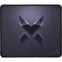 Коврик для мышки Vinga MP252 Black ткань на резиновой основе, серый, черный