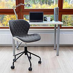 Офисный стул Vecotti вращающийся экокожа Серый