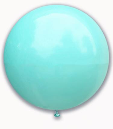 """Куля 21"""" (52 см) SHOW пастель Aquamarine (аквамарин), фото 2"""