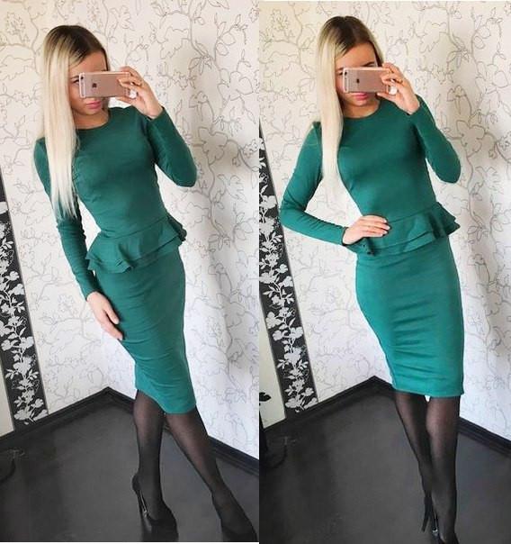 Изысканный костюм юбка+баска (разные цвета)