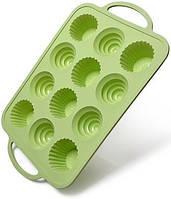 Форма для выпечки кексов Fissman Wave силиконовая 37х23.5см, 12 ячеек