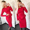 Изысканный костюм юбка+баска (разные цвета), фото 4
