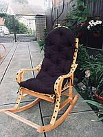 Кресло качалка с подушкой на подарок