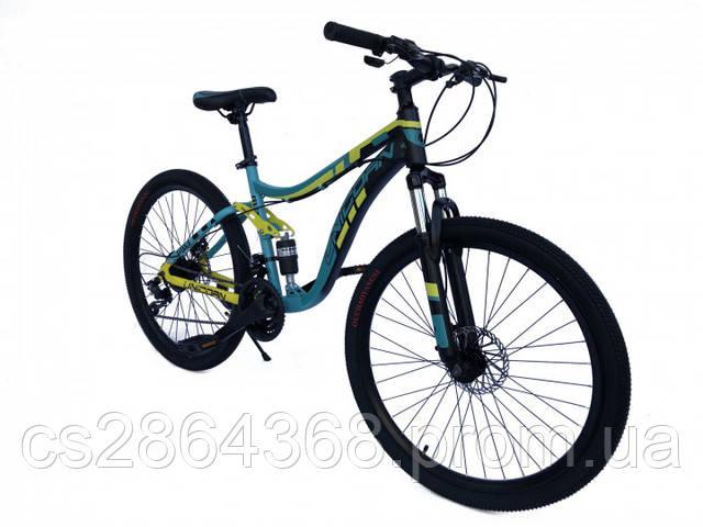 """Велосипед двухподвесный Unicorn Shark18""""/26"""" Mint (хромолибден)"""