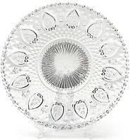 Набор 6 стеклянных тарелок Ajour Ø20см, десертные тарелки