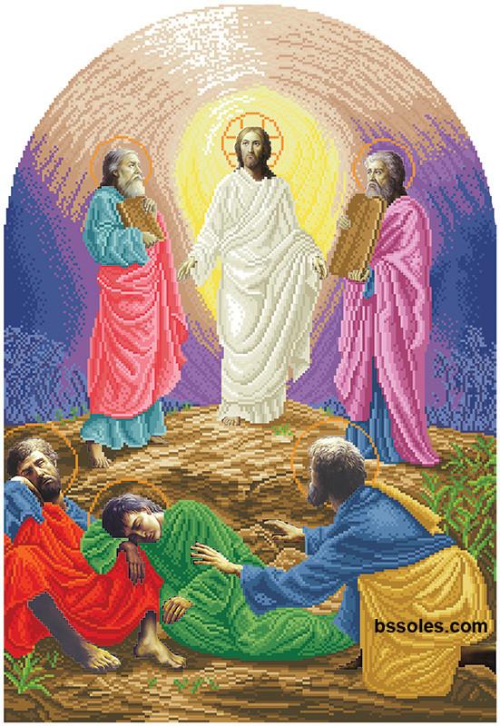Вишивка бісером Преображення Господнє (іконостас)